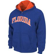 Florida Gators Royal Tackle Twill Full Zip Hooded Sweatshirt