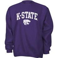 Kansas State Wildcats Purple Tackle Twill Crewneck Sweatshirt