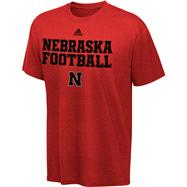 Nebraska Cornhuskers Youth adidas Red 2011 Official Football Practice T-Shirt