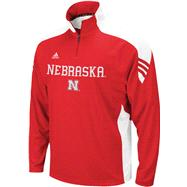 Nebraska Cornhuskers Youth adidas Red Scorch 1/2 Zip Pullover Jacket