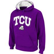 TCU Horned Frogs Arched Tackle Twill Hooded Sweatshirt