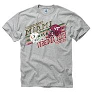 Miami Hurricanes vs Virginia Tech Hokies Stance Rivalry T-Shirt