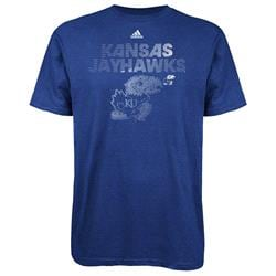 Kansas Jayhawks adidas Radiant Team T-Shirt - Royal