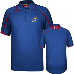 Kansas Jayhawks adidas 2013 Spring Game Football Sideline Polo Shirt