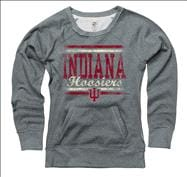 Indiana Hoosiers Women's Boundary Ring Spun Scoopneck Sweatshirt
