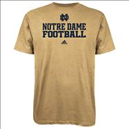 Notre Dame Fighting Irish Navy adidas 2012 Football Practice T-Shirt - Old Gold
