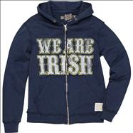 Notre Dame Fighting Irish Original Retro Brand Navy We Are Irish Vintage Thermal-Lined Hooded Sweatshirt