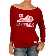 Louisville Cardinals Original Retro Brand Women's Flashdance Raglan Off Shoulder Sweatshirt