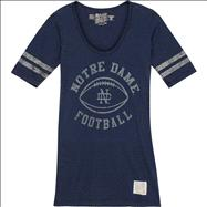 Notre Dame Fighting Irish Original Retro Brand Women's Football Mid-Sleeve Vintage Jersey T-Shirt