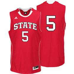 North Carolina State Wolfpack adidas #5 Replica Basketball Jersey - Red