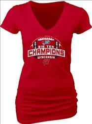 Wisconsin Badgers Women's 2012 Big Ten Conference Football Champions Survey V-Neck T-Shirt