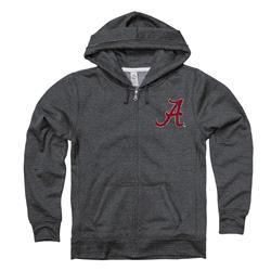 Alabama Crimson Tide Women's Primary Ring Spun Heathered Full-Zip Hooded Sweatshirt
