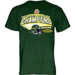 Oregon Ducks 2013 Fiesta Bowl Champions T-Shirt - Green