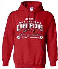 Louisville Cardinals 2012 Big East Football Conference Champions Official Locker Room Hooded Sweatshirt