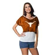 Texas Longhorns Women's Dark Orange Cropped Top Mesh Jersey