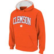 Clemson Tigers Orange Tackle Twill Big Autumn Hooded Sweatshirt