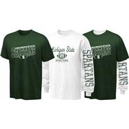 Michigan State Spartans Youth Long Sleeve/Short Sleeve 3-in-1 T-Shirt Combo Pack