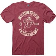 Ohio State Buckeyes Heathered Red Rockers Ring Spun T-Shirt