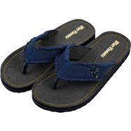 West Virginia Mountaineers Team Color Flip Flop