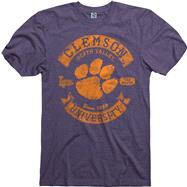 Clemson Tigers Heathered Purple Rockers Ring Spun T-Shirt
