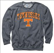 Tennessee Volunteers Dark Heather Perennial II Crewneck Sweatshirt