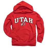Utah Utes Youth Red Perennial II Hooded Sweatshirt
