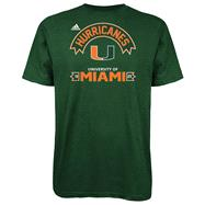 Miami Hurricanes Black adidas Athletic Front T-Shirt
