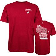 Wisconsin Badgers Red adidas Fight Fight Fight T-Shirt