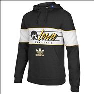 Iowa Hawkeyes Black adidas Originals BTC Hooded Sweatshirt