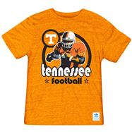 Tennessee Volunteers Heather Light Orange adidas Originals Iron Heat Gridiron Tri-Blend T-Shirt