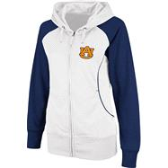 Auburn Tigers Women's Team Sleeve Full-Zip Hooded Sweatshirt