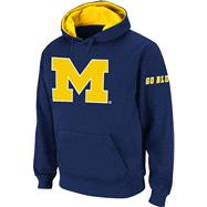 Michigan Wolverines Navy Twill Pep Rally Hooded Sweatshirt