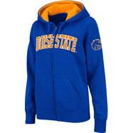 Boise State Broncos Women's Orange Twill Tailgate Full-Zip Hooded Sweatshirt