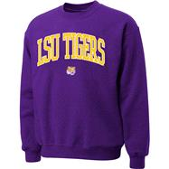 LSU Tigers Purple Twill Arch Crewneck Sweatshirt