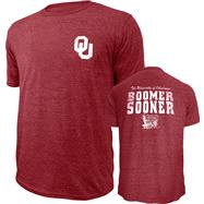Oklahoma Sooners Cardinal Hometown Hero Tri-Blend T-Shirt