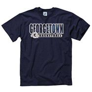 Georgetown Hoyas Navy Show Thru Basketball T-Shirt