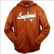 Texas Longhorns Dark Orange Seasonal Arch Tackle Twill Full-Zip Hooded Sweatshirts