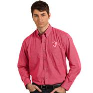 Indiana Hoosiers Cardinal Focus Long Sleeve Dress Shirt