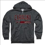 South Carolina Gamecocks Heather Maroon Bridge Ring Spun Full-Zip Hooded Sweatshirt