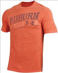 Auburn Tigers Under Armour Diagonal Graphic Tri-Blend T-Shirt