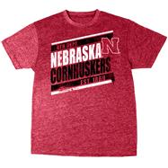 Nebraska Cornhuskers Red Heather Retro T-Shirt