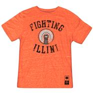 Illinois Fighting Illini Orange adidas Gym Class Chief Illiniwek Tri-Blend T-Shirt