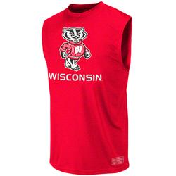 Wisconsin Badgers Red Rush Performance Sleeveless T-Shirt
