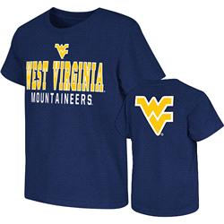 West Virginia Mountaineers Navy Kids 4-7 Platform Dual-Blend T-Shirt