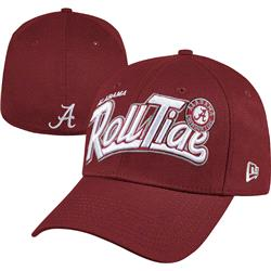 Alabama Crimson Tide Crimson New Era 39THIRTY Tail Swoop Classic Stretch Fit Hat