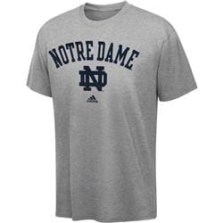 Notre Dame Fighting Irish Toddler Grey adidas Sideline T-Shirt
