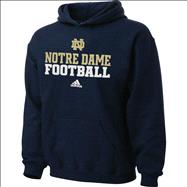 Notre Dame Fighting Irish adidas 2012 Navy Kids 4-7 Practice Hooded Sweatshirt