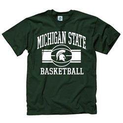 Michigan State Spartans Youth Wide Stripe Basketball T-Shirt