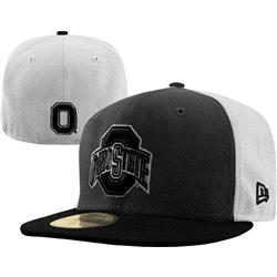 Ohio State Buckeyes New Era Graphite/Black 59FIFTY Fitted Hat