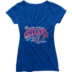Kansas Jayhaws NCAA Basketball 2013 Sweet Sixteen Women's V-Neck T-Shirt